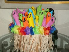 Great idea for silverware for Luau Party