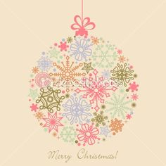 Retro Christmas ball by Danussa - Stock Vector
