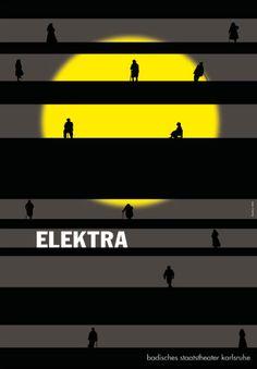 By Gunter Rambow (born 1938), Elektra badisches staatsteather karlsruhe.