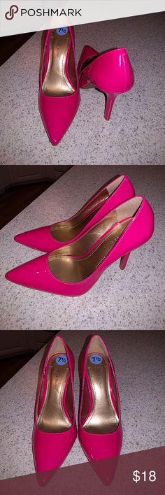 BCBG hot pink high heels Beautiful, never worn hot pink high heels BCBGeneration Shoes Heels