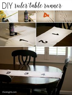 Start your back to school party decorations with this DIY Ruler Table Runner. It is super cute and easy to make, and is the perfect addition to your party.