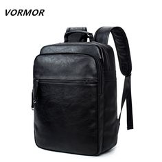 US  25.89 45% OFF VORMOR Leather Backpack High Quality Youth Travel Rucksack  Casual Male School Book Bag Business Laptop Backpack For Men-in Backpacks  from ... e39bb85633