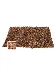 Hochflor Shaggy Teppich Dallas Schokolade 120 x 180 cm