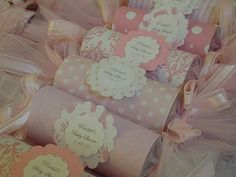 Pink baby girl baby shower favors