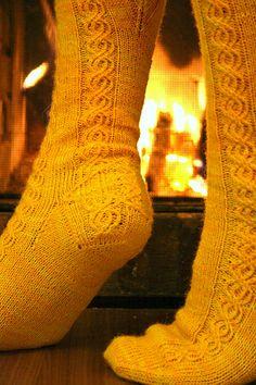 Lissajous Socks - details