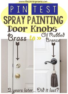 old brass door knobs with spray paint knobs door knobs and brass. Black Bedroom Furniture Sets. Home Design Ideas