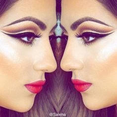 """Spread your Wings. It's time to fly. Make the leap. Own the sky 💫 Saleha Beauty """"Arabian Nights"""" eyeliner & """"Celebrity"""" lipstick Shop: www.salehabeauty.com"""