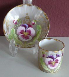 nymphenburg pansy tea set