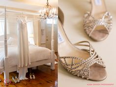 Jimmy Choo bridal shoes @ Lord Thompson Manor : Alissa Dinneen Photography