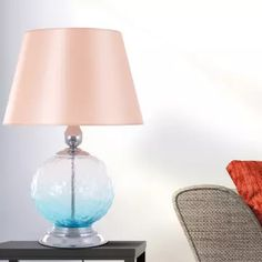 A beautiful Manhattan Beach Table Lamp created with metal and a glass etched bloom that softly reflects light when it's switched on. Flat Plan, Luxury Lighting, Hanging Lights, Rustic Decor, Bloom, Pure Products, Floor Lamps, Table Lamps, Metal
