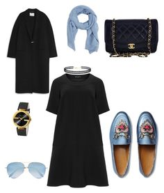 """🌊love"" by sabilatifova ❤ liked on Polyvore featuring Acne Studios, Gucci, Chanel, Manon Baptiste, MANGO, Victoria Beckham and LULUS"