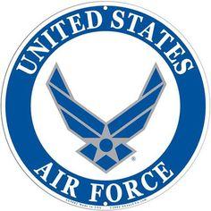 "Amazon.com: USAF Air Force Logo Aluminum Sign 12"", United States ..."