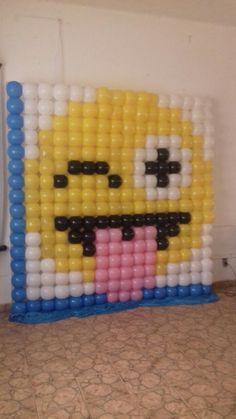 ballon wall, could make a poop emoji                                                                                                                                                                                 More