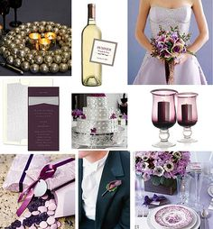 Wedding Wednesday - Purple and Silver Wedding by Tastefully Entertaining, via Flickr