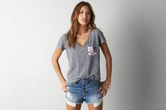 AmericanEagle AEO Heathered Pocket T-Shirt Found on my new favorite app Dote Shopping #DoteApp #Shopping