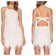 Loving this lace detailed open back dress!!