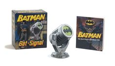 Fans can call upon the Dark Knight himself with this replica of the Bat Signal which lights up to project the iconic winged Batman symbol onto nearby walls etc. Kit includes a replica of Batmans Bat Signal and a full color 48 page book of Batman history. Batman Comics, Dc Comics, Batman History, Batman Gifts, Batman The Dark Knight, Kits For Kids, Batcave, Novelty Items, Tk Maxx