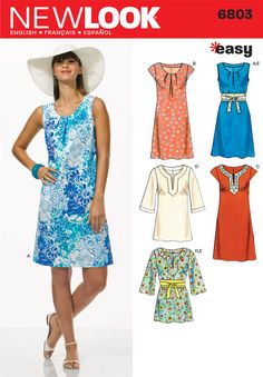 Womens Easy Dresses, Tunics Pattern 6803 New Look Patterns / Have variations already, just do it