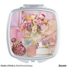 Shades of Pink Makeup Mirrors