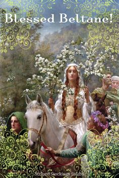 Happy Beltane from Striped Stockings Studio Blog! - Queen Guinevere's Maying by John Collier (1900)