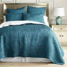 Essex Teal Quilt Sham Teal Bedding Bed Linens Luxury Teal Bedding Sets