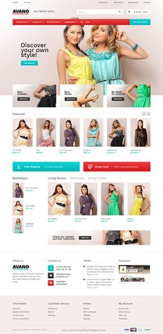 Avano is an advanced OpenCart theme with fully customizable and suitable for any #eCommerce #websites. It comes with 5 homepage layouts. #fashionstore