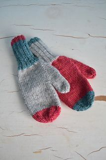 Ravelry: Colour Block Mittens pattern by Miranda Riley Knitting For Kids, Loom Knitting, Knitting Projects, Baby Knitting, Knitting Patterns, Knitting Help, Knitted Mittens Pattern, Fingerless Gloves Knitted, Knit Mittens