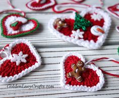 Make this crochet Heart ornament for Christmas! You can use this crochet Heart ornament for your Christmas Tree, you can decorate a gift package, or, embellish your home. Christmas Yarn, Christmas Hearts, Crochet Christmas Ornaments, Christmas Crochet Patterns, Holiday Crochet, Crochet Gifts, Free Crochet, Crochet Ideas, Crochet Projects