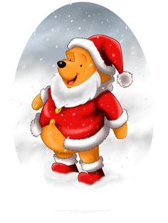 Winnie the Santa by selinmarsou, Walt Disney Christmas Winnie the Pooh