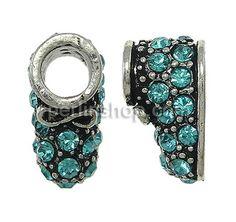 Zinklegierung European Perlen, Schuhe, ohne troll & mit Strass, frei von Nickel, Blei & Kadmium, 8x12x9mm, Bohrung:ca. 5mm,- perlinshop.com