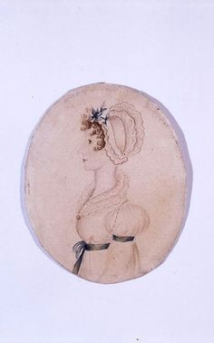 Painting of Maria Bronte by Charlotte in 1830. (courtesy of Bronte Parsonage Museum)