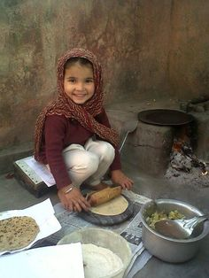 Adorable.  Making me miss chapatis every night in India.