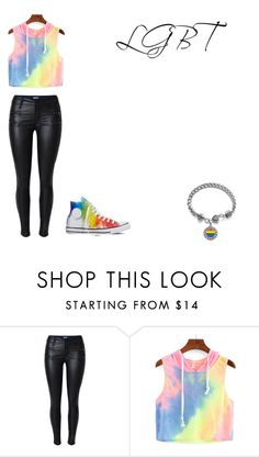 """LGBT"" by bring-me-the-sirenz on Polyvore featuring Converse"