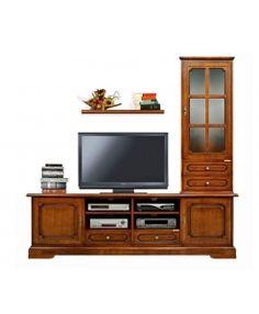 wohnwand mit vitrine und tv lowboard art 4016 s plus www