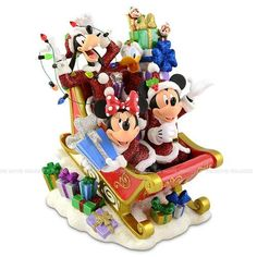Overseas Limited  hardtofind goods Disney Christmas Santa Mickey Mouse  Friends Holiday figure Statue Figurine parallel import goods ** Learn more by visiting the image link.