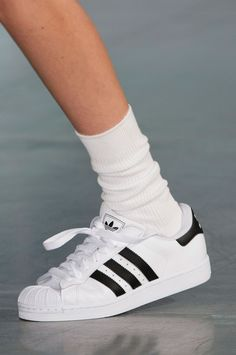 Jacquemus S/S 2015 -- high socks & Adidas sneakers #style #fashion #runway