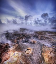 Not of this Earth These are the bubbling sulfur pools of geothermal Iceland. Beautiful World, Beautiful Places, Some Beautiful Pictures, Pretty Images, Iwo Jima, Multiple Exposure, Hdr Photography, Photo Wallpaper, How To Look Better