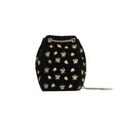 Zara embroidered bee bucket bag