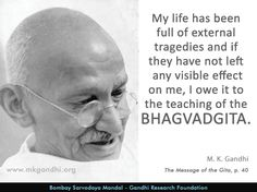 #bhagvadgita #life #teaching Indiana, Mahatma Gandhi Quotes, Spiritual Life, Quotable Quotes, Teaching Kids, Leadership, My Life, Spirituality, Thoughts