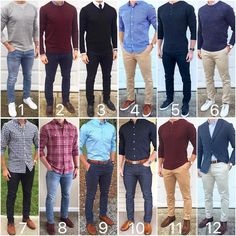 Here's some fall style inspiration from the month of November. What were your favorite outf. Stylish Mens Fashion, Stylish Mens Outfits, Mens Fashion Suits, Fashion Shirts, Fashion Fashion, Formal Men Outfit, Dress Casual, Herren Outfit, Mode Masculine