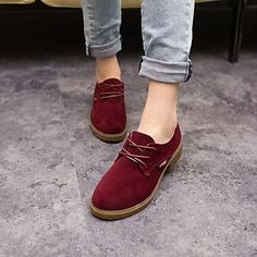 Women's Shoes Round Toe Chunky Heel Suede Boots More Colors available – USD $ 37.99