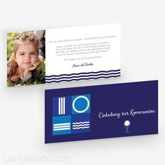Kommunionskarte Wasser 21 x 10 cm - Dankeskarte.com Frame, Home Decor, Communion, Tiling, Thanks Card, Cordial, Invitations, Water, Homemade Home Decor