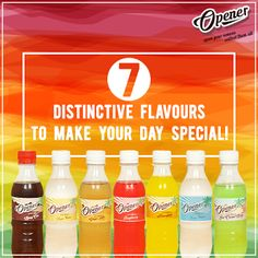 The Seven yummy flavours of our newest soft drink, Opener, will open you up to new possibilities, new feelings and new experiences!
