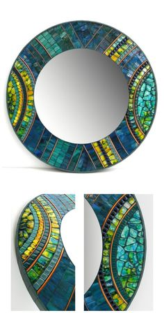 STUNNING One-of-a-Kind Mosaic Mirror by NewArtsOnline