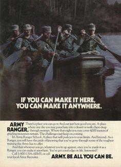 Army Ranger Original 1991 Vintage Print Ad Color by VintageAdarama, $9.99