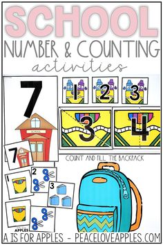Perfect for toddlers, preschoolers, and Kindergarten children! These are great for individual center activities. Practice number recognition, counting, number matching, number order, and more.