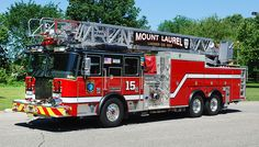 Mount Laurel Ladder Co Fire Dept, Fire Department, Lights And Sirens, Mount Laurel, Rescue Vehicles, Fire Equipment, Truck Engine, Fire Apparatus, Emergency Vehicles