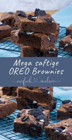 The Oreo Brownies are awesome! The recipe is child's play .- The Oreo Brownies are awesome! The recipe is child's play and after just 20 minutes of baking time, the Oreo Brownies are already baked! Exactly the right thing for all OREO fans! Oreo Brownies, Brownie Cookies, Oreo Cake, Oreo Cheesecake, Chocolate Chip Cookie Dough, Baking Brownies, Raspberry Cheesecake, Chocolate Brownies, Chocolate Chips
