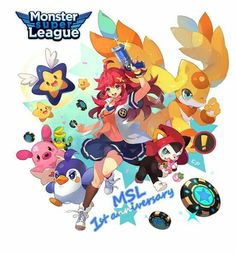 Monster Super League, Pokemon, League Gaming, Manga, Games To Play, Character Art, Fanart, Illustration, Anime