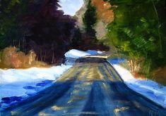 Winter Light Landscape Painting Prints by Nancy Merkle